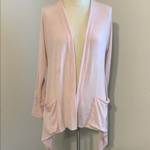 Pulled cardigan sweater